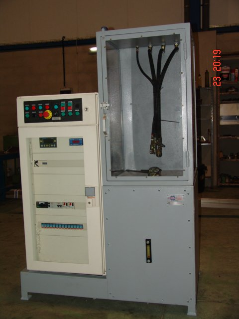 Banco automatizado pruebas presión calderines