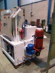 Banco automatizado para prueba válvula minería